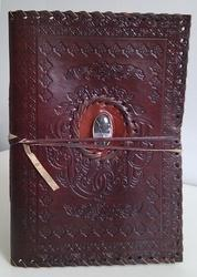Custom Embossed Leather Journals With Stones