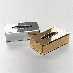 Gold Tissue Box Holder