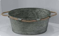 Galvanized Oval Rope Handle Tub