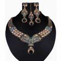 Red Kundan Necklace Set