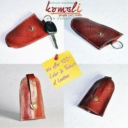 Genuine Leather Retro Key Ring Chain