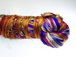 Multi Color Sari Silk Thrums for Yarn Stores