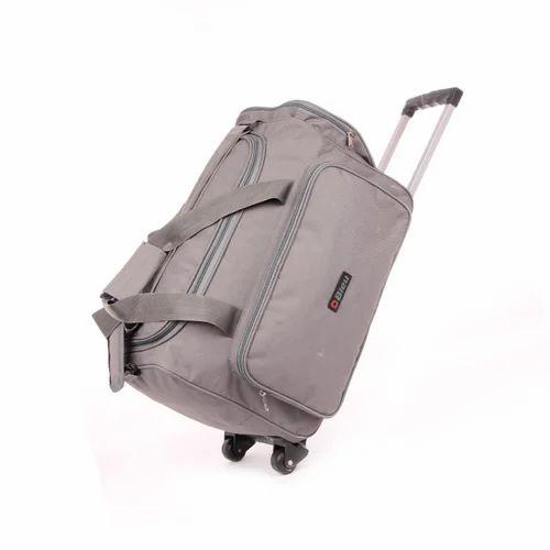 Travel Bag with Trolley - Grey