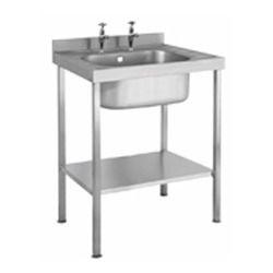 steel single sink unit
