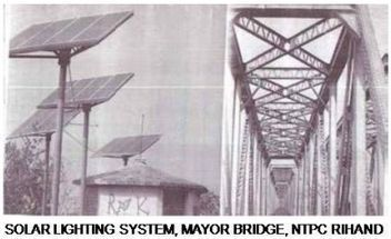 Solar Lighting System, Mayor Bridge, NTPC Rihand