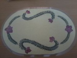 Dried Flower Painting Table Mat