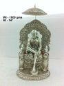 White Metal Sai Baba Statue