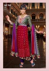 Plain+Dye+Anarkali+Suit