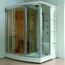 Steam & Sauna Shower Cabin Rectangular Combi