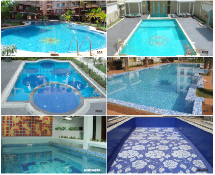 Swimming Pool Glass Mosaic Tiles - Glass Mosaic Tiles Swimming
