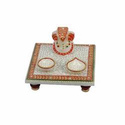 Chowki Marble Ganesh