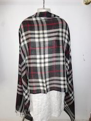 Wool Woven Check Stoles