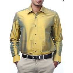 Light Golden Silks Shirts