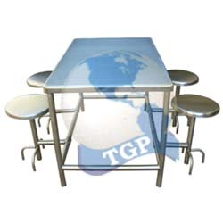 SS Canteen Table with Four Seater