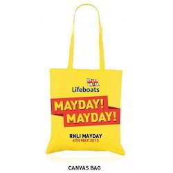 May Day Printed Calico Bag In Yellow Colour
