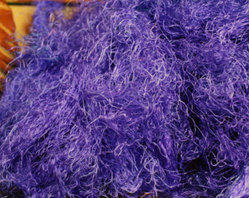 Solid Colored Sari Silk Fiber For Yarn Stores, Fiber Stores