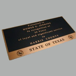 Deep Etched Brass Nameplate