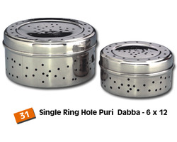 Steel Canisters (Hole Dabba) Strainer
