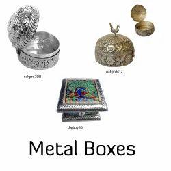 White Metal Jewelry Box
