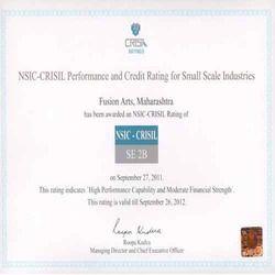 NSIC Crisil Certificate