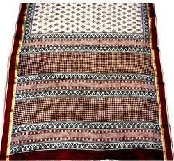 Hand Block Bagru Printed Cotton Saree