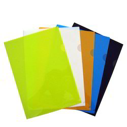 L-Shape Coloured Transparent Folders