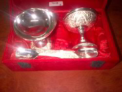 Silver Plated Ice Cream Set