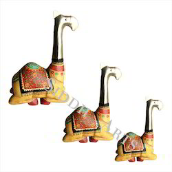 Hand Painted Metal Camel Statue