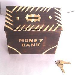 Big Wooden Money Bank