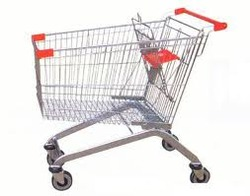 shopping basket with trolley