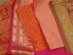 Brocade Silk Fabrics For Wedding Stationers, Wedding Dress D