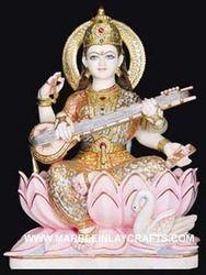 Saraswati Statue Colorful