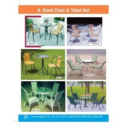 steel chair table set