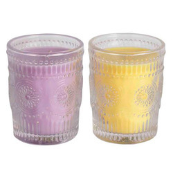 Imbosed Glass Candles