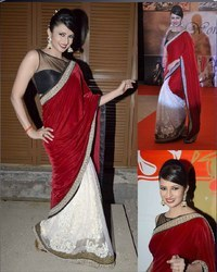party wear saree in bollywood