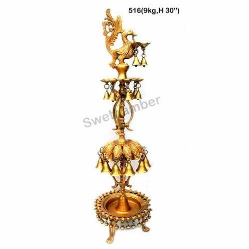 Brass Embossed Oil Lamp