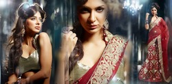 BRIDAL DESIGNERS SAREE AND LAHANGAS