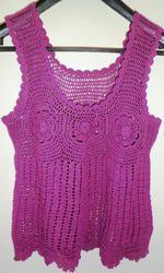 Beaded Fringe Crochet Top