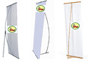 L Banner Display Stand
