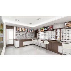 Optical Showroom Designing Interior with 3D Interior Designing for