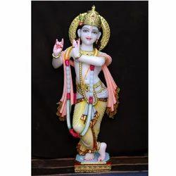 Colorfull Krishna Marble Idol