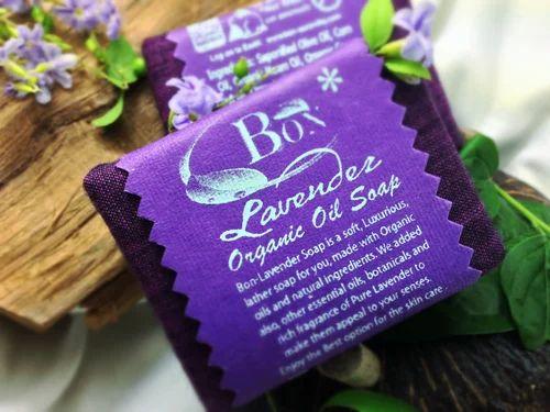 Organic Soap India Lavender Organic Soap