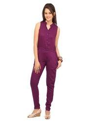 Women Purple Jumpsuit