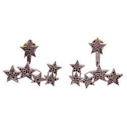 925 Silver Diamond Pave Earrings