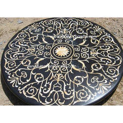 Black Marble Center Table Tops