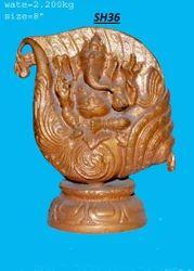 Vaah Brass Shankh Ganesh