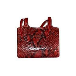 Red and Black Ladies Leather Handbag