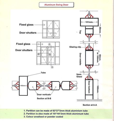 Aluminum Doors Aluminum Swing Door Manufacturer From Kolkata