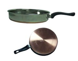 fry pan with cover bakelite handle