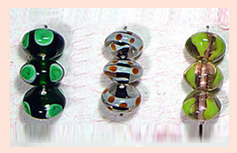 Indian Lustre Glass Beads SFB-15